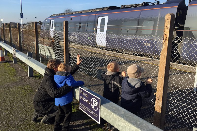 Waving at the High Speed train