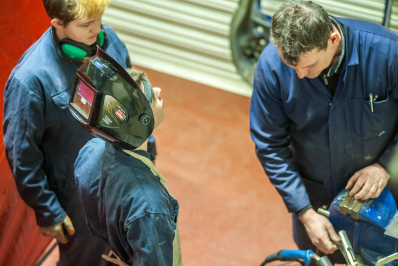 Receiving instruction in the use of the Arc Welder