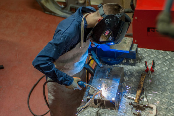 Arc Welder in use