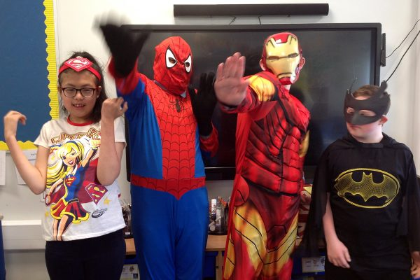 Marvel and DC Comics super heroes at The Beacon for World Book Day