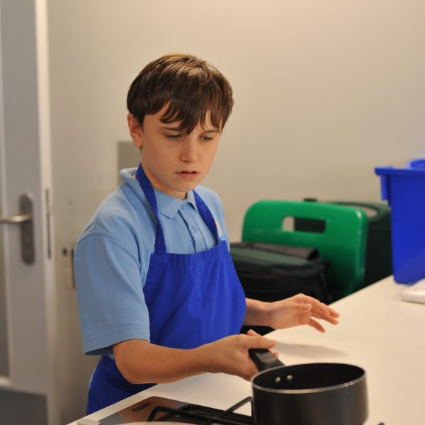 A pupil cooking